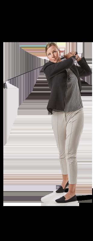 Employee Christiane golfing
