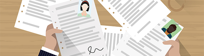 Kachel Bewerbungsprozess Icon Bewerbungsunterlagen
